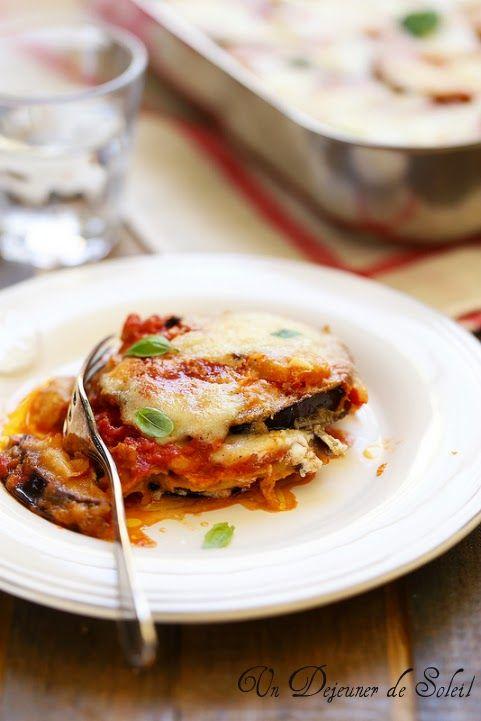Parmigiana d'aubergines italienne - Italian eggplants parmigiana