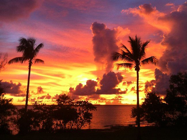 One of the famous sunsets at Fannie Bay in Darwin, Australia.