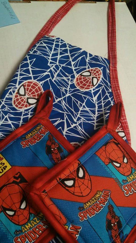 Spiderman Apron /& Oven Glove Set