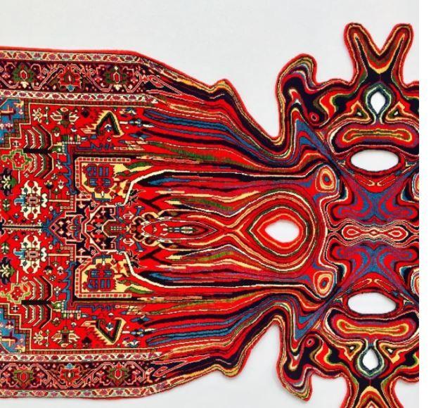 Melting carpet ... Artist Faig Ahmed reworked the classical Azerbaijan carpet into some incredible artwork