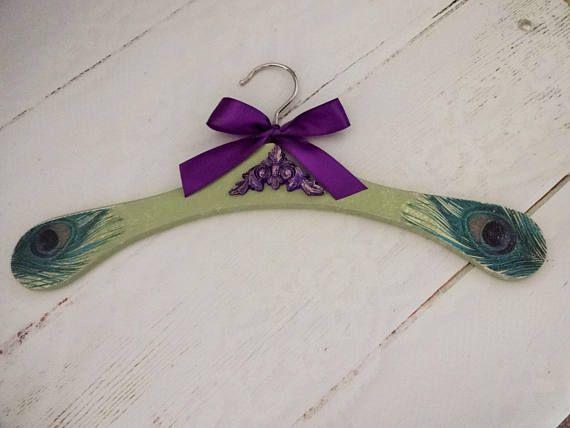 Peacock Wedding Dress Hanger Bridal Hanger Engagement Gift