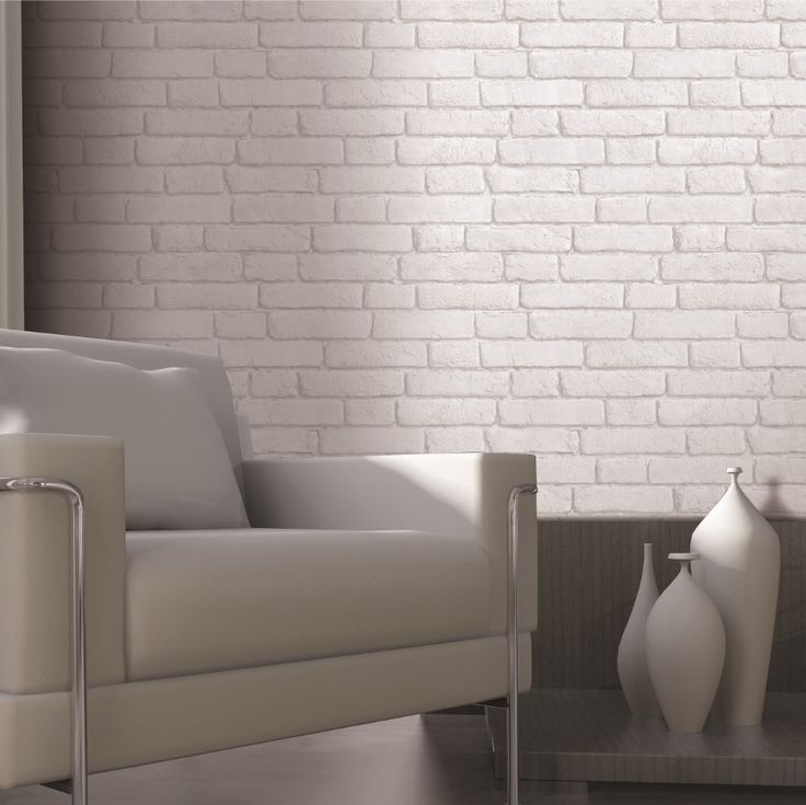 Muriva White Brick Wall Wallpaper   Bu0026Q For All Your Home And Garden  Supplies And Advice On All The Latest DIY Trends