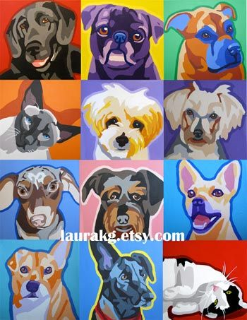 (Last Day To Enter) Win a Pop Art Portrait of Your Pet from Portraits by Laura!