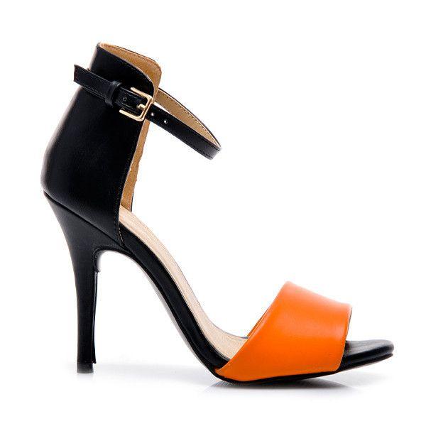 SEKSOWNE SANDAŁY NA SZPILCE E310R /S1-1P - odcienie pomarańczowego > CzasNaButy.pl > buty i torebki