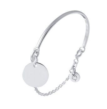Demi-jonc chaînette médaille plaqué or en vente à L'Atelier d'Amaya, bijoux en argent et plaqué or pour femme, homme et enfant
