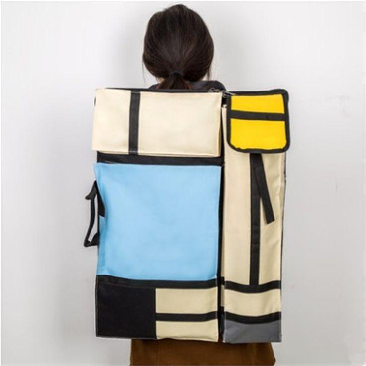 Portable 4K Multifunction Canvas Sketchpad Bag Drawing Sketch Board Case Painting Backpack Bag Travel Art Set School Supply