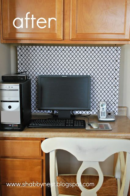 The Shabby Nest: Easy (and Functional) Way to Hide Ugly Computer Cords~