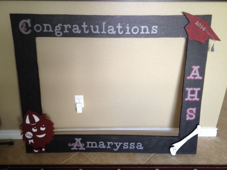 Graduation styrofoam frame email me for Making a large picture frame