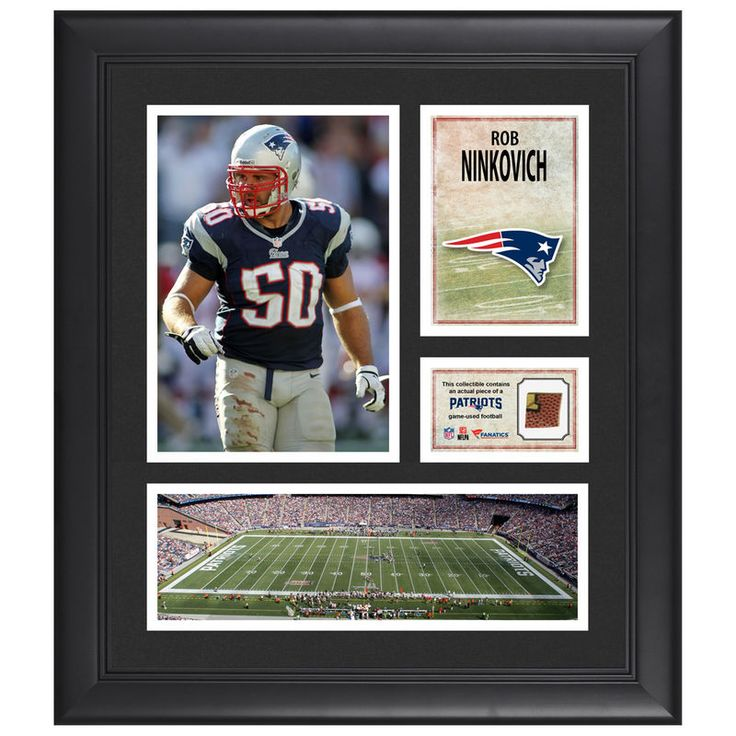 "Rob Ninkovich New England Patriots Fanatics Authentic Framed 15"" x 17"" Collage with Piece of Game-Used Football"