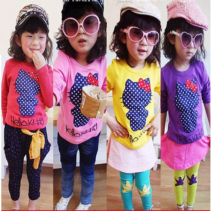 Alibaba グループ | AliExpress.comの を · ティー からの 製品の特徴   子供の漫画の2015綿ロング- 長袖t- シャツ冠( 透かしの漫画)ファブリック: 綿100%プレーン布色: 9色品質: 品質保証年齢: 約3〜5歳( 参考用、 大きさに応じて被写体の本体)   &n 中の 2015子供子供の綿の長い  長袖子供綿のtシャツ子供固体ハローキティの猫漫画の女の子の長い袖のトップスシャツ