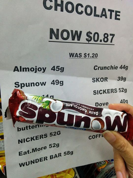 I'll Take One Spunow And One Sickers, Please. This is why the idiot shouldn't type things.