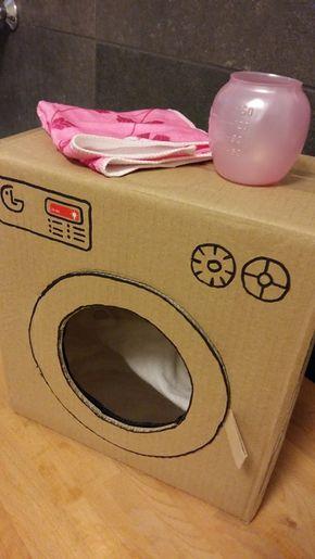 Regali fai da te | lavatrice giocattolo in cartone