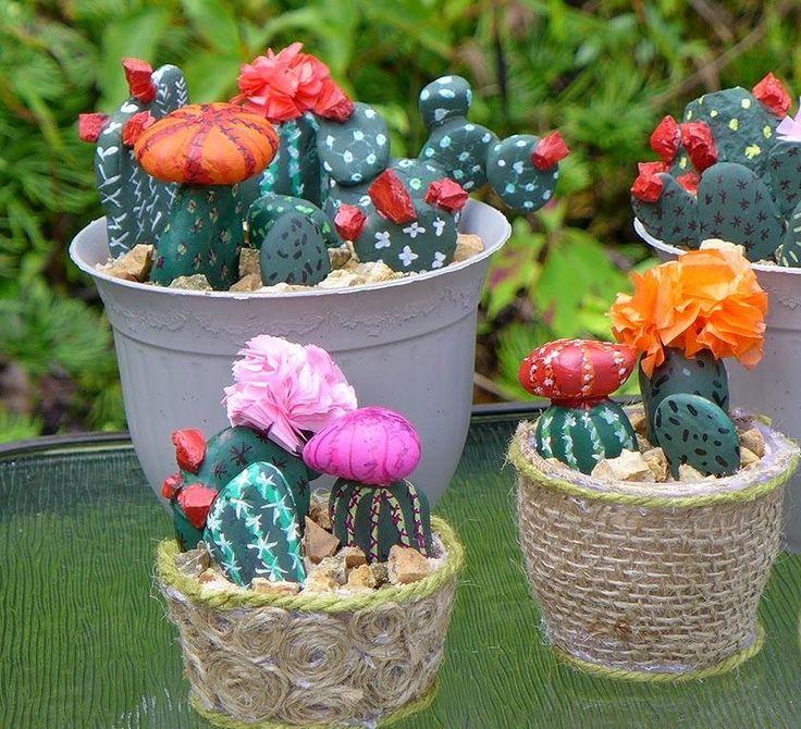 Las 25 mejores ideas sobre piedras pintadas para jardin - Macetas de piedra para jardin ...