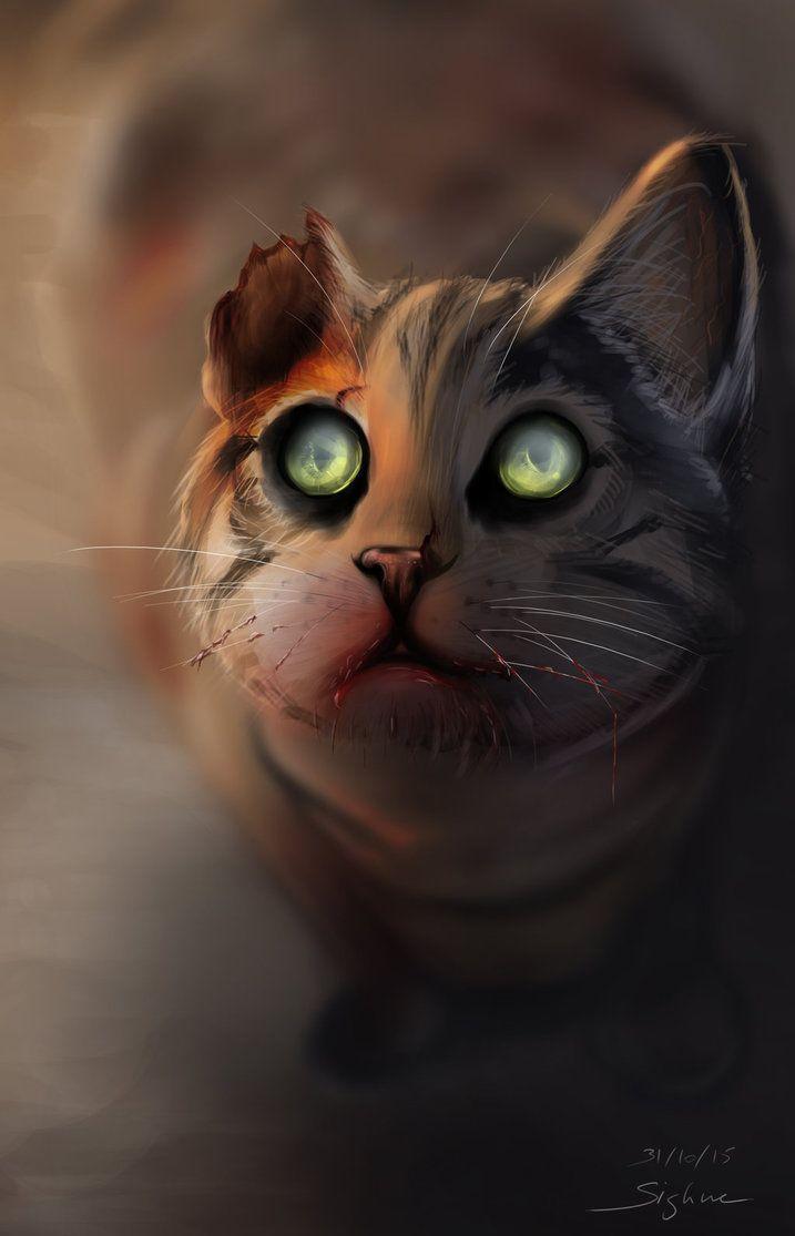 Zombie Cat by Sighne.deviantart.com on @DeviantArt