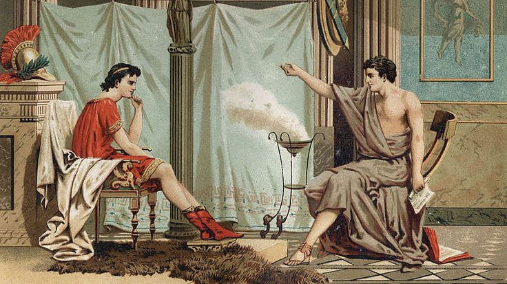 """Die Liebe zum Lehrer-Um seinem Sohn eine angemessene Erziehung zu ermöglichen, holt König Philipp II. den griechischen Philosophen Aristoteles an seinen Hof. Dieser hat prägenden Einfluss auf Alexander. Während des gesamten Feldzugs tauschen sie sich in Briefen aus. Wie der griechische Schriftsteller Plutarch überliefert, soll Alexander seinen Lehrer sogar mehr als seinen Vater geschätzt haben, denn """"letzterem verdanke er nur sein äußeres Leben, dem Ersten aber sein edleres Leben""""."""
