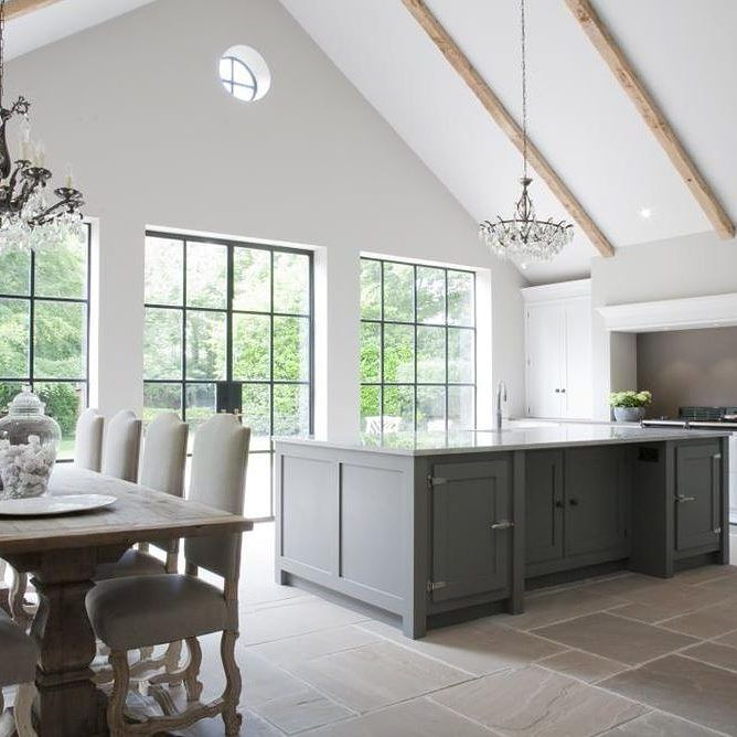 Hetherington Newman created this contemporary kitchen using our beautiful Dark Lead Colour. #interiordesign