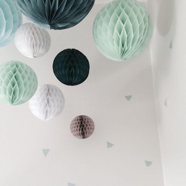Pompom, Fabel-A, kalk maling, trekant, Annie Sloan, vintage, Childrens room