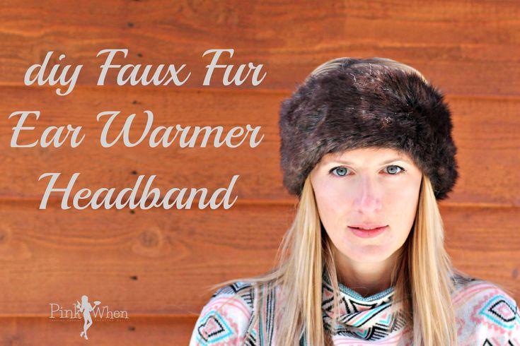 DIY Fur Covered EarWarmer Headband Tutorial