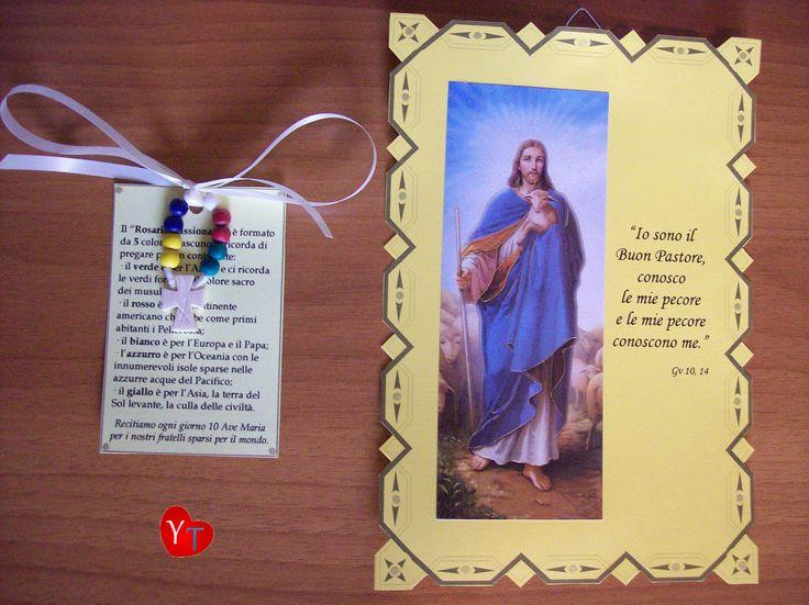 Quadretto e coroncina missionaria (realizzato per i bimbi del catechismo)