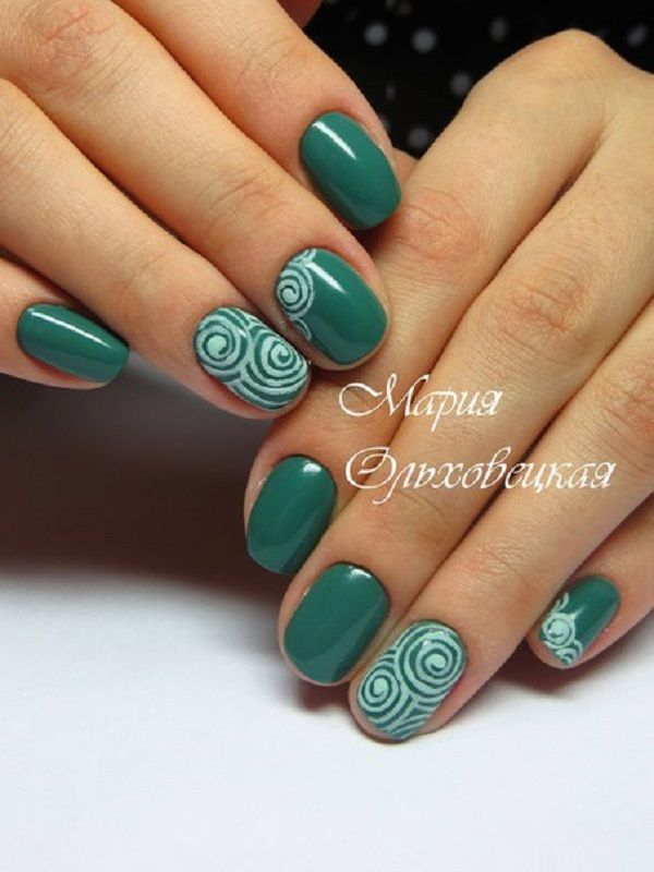 This nail art is evidence that short nails nicely painted, nurtured and sharpened can be very attractive.