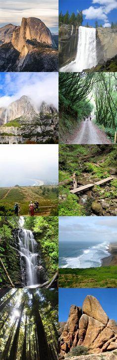 Top 10 best hiking spots in California #Travel #California #WanderTours
