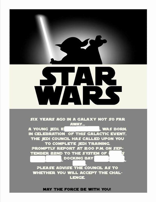 star wars invitation templates best of