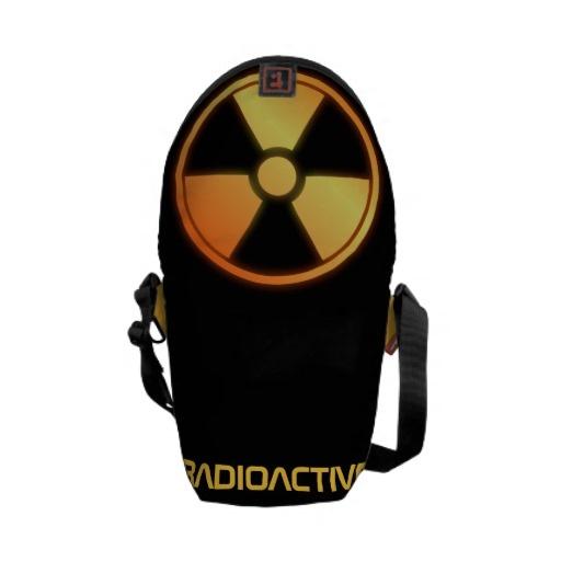 radioactive carbon fiber messenger bag by BannedWare