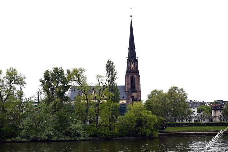 Франкфурт на Майне - достопримечательности - Церковь трех королей - с северного берега -Frankfurt Dreikonigskirche Рассказы о путешествиях