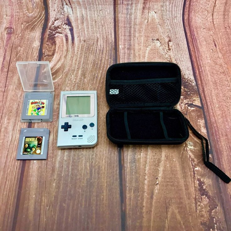 Vintage Game Boy Pocket Bundle Case Games Console Mario & Yoshi Oddwold 🎁