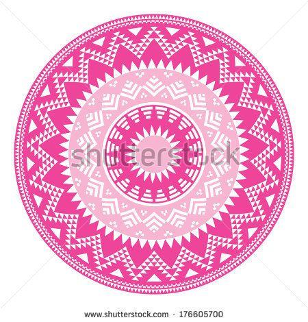 Seamless Aztec Tribal Pattern With Hearts - Grunge, Retro Style Stock Vector Illustratie 164896655 : Shutterstock