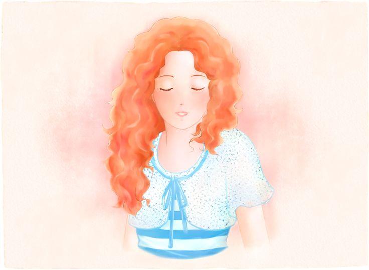 """""""Rebecca elegante"""". Illustrazione per il romanzo per ragazzi """"Vivere a Venezia"""", di Laura M. Cecilia Ferro."""