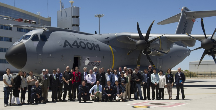 A400M in Sevilla (special task: Spot our CEO:))