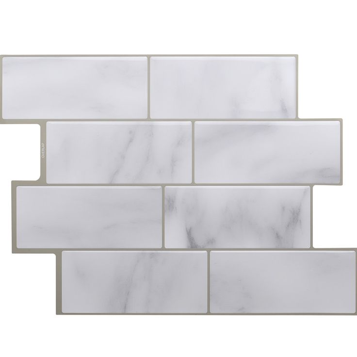 Peel and Stick Self-Adhesive Wall Tile with Mosaic Effect for Kitcheh / Bathroom