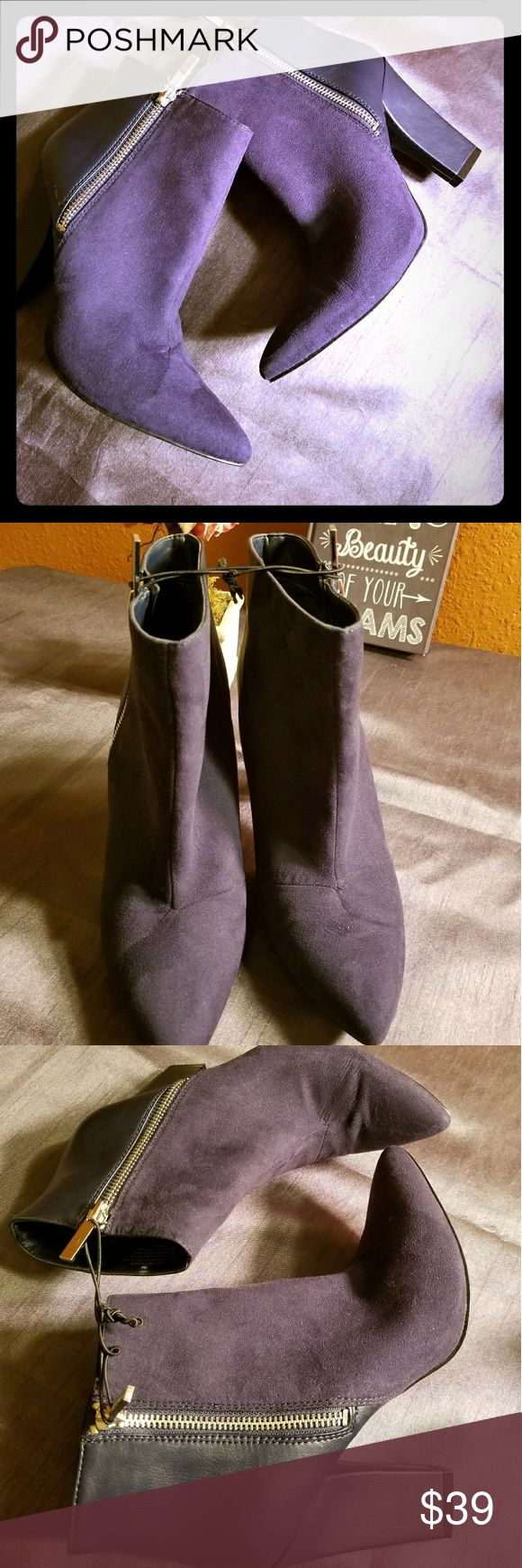 """✔BRAND NEW✔Nine west pointed ankle boots This cute booties is new and is on great price! Never been worn. 3 1/2"""" heels and it's so comfy. Perfect for your casual look😉 Nine West Shoes Ankle Boots & Booties"""