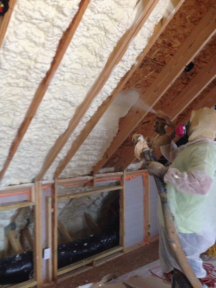 Spray Foam Insulation Installed In Older House To Save On