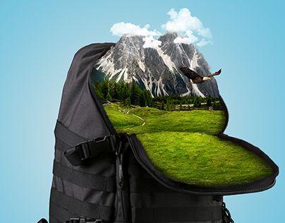 "Check out new work on my @Behance portfolio: ""Фотоманипуляция ""Природа в рюкзаке"""" http://be.net/gallery/62340459/fotomanipuljacija-priroda-v-rjukzake"