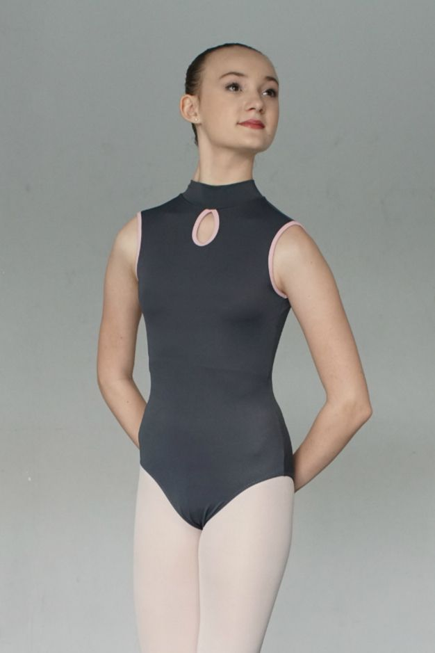 A classic style leotard with a modern twist. Includes bra shelf lining.