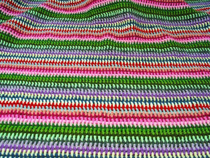 Carta Pezza e Calamaio: Coperta a strisce multicolor - Tutorial
