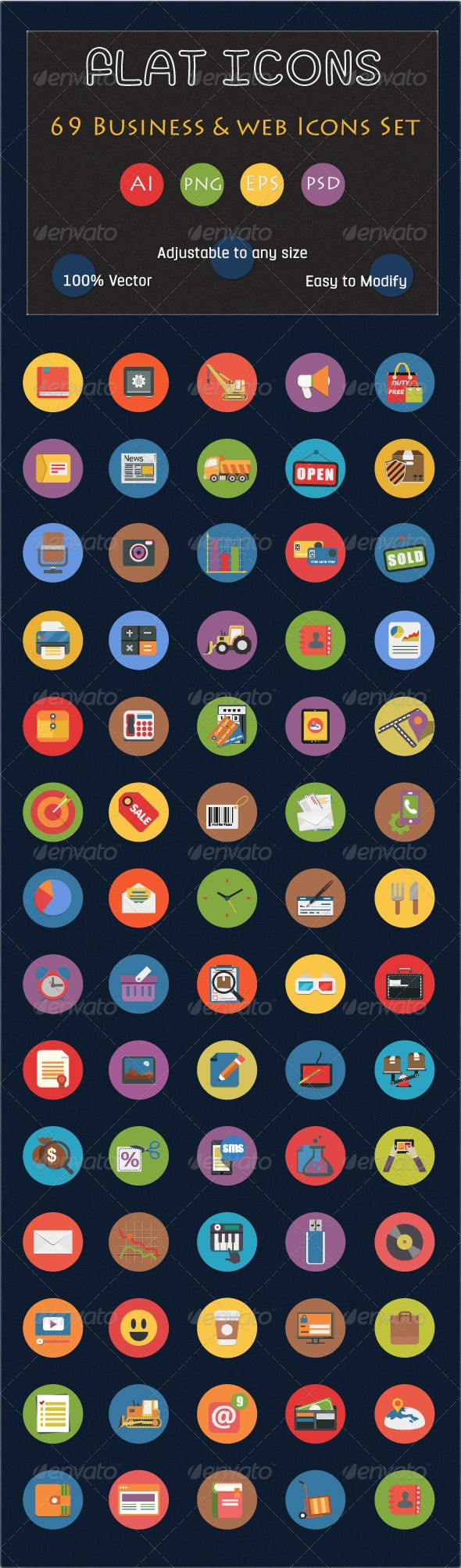 Keywords: analytics, application, business, business icons, cloud, coding, communication, computer, concept, connection, data, flat icons, icon, interface, internet, management, mobile, network, office icons, page, research, search engine, seo, server, service, vector flat icons, web, web icons, webpage, wifi. Download Link  http://graphicriver.net/item/69-flat-icons-set-business-and-web-services-icon/6556184