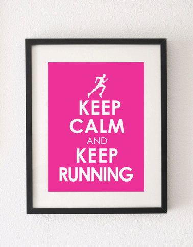 Keep Calm and Keep Running Wall Art Poster by WallArtCollection