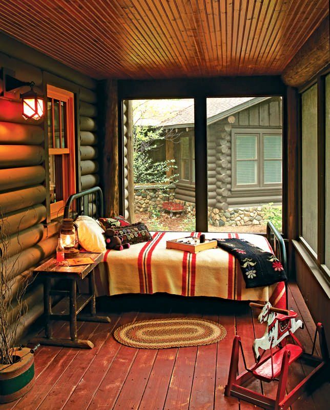 Adirondack Style House Plans New Adirondack Camp Inspired Style Sleeping Porch Cabin Bedroom Cabin Decor