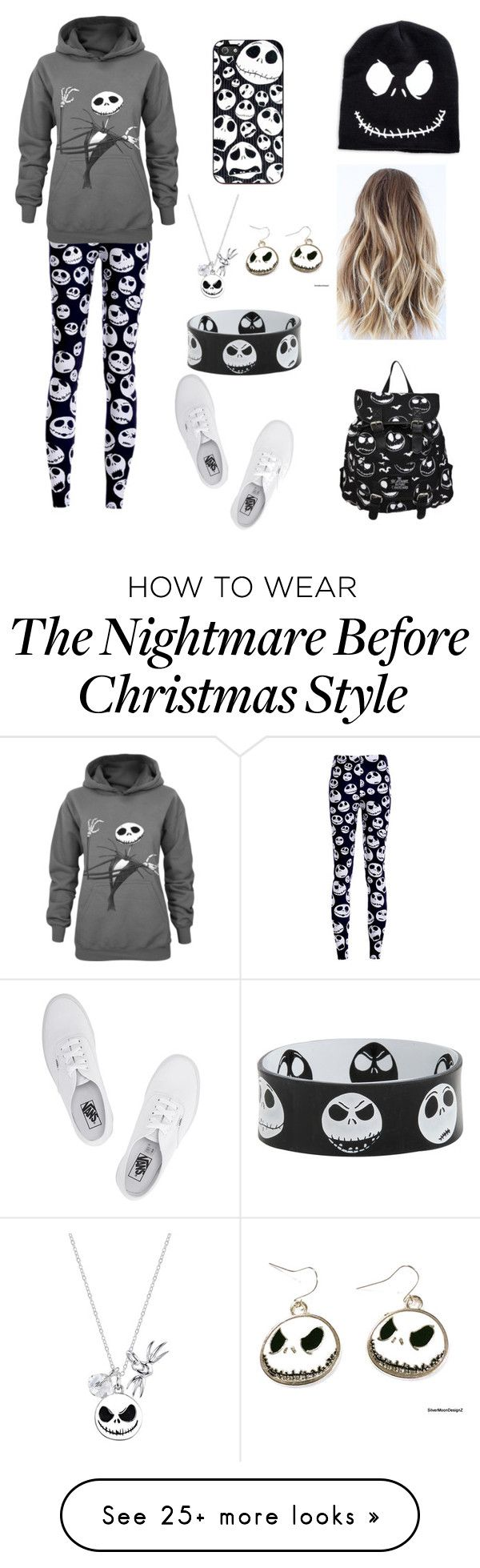 """Loving Jack Skellington"" by taylor-loves-clothes on Polyvore featuring Vans and Disney"