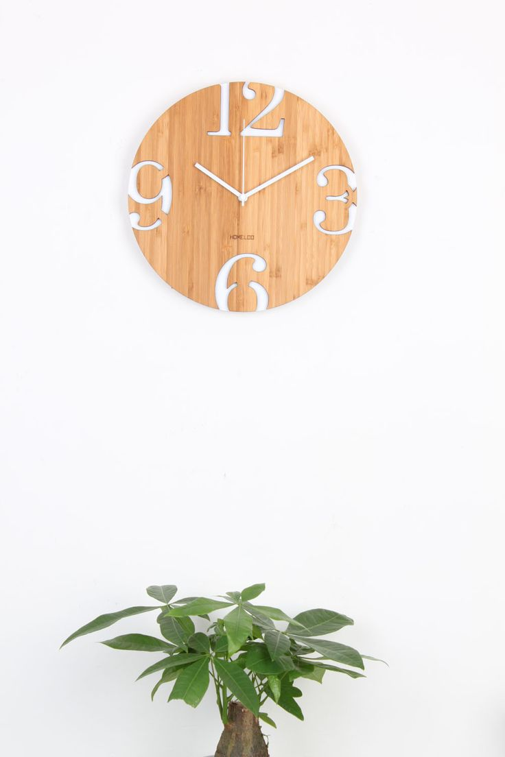 Number Big Cut Wall Clock Made by