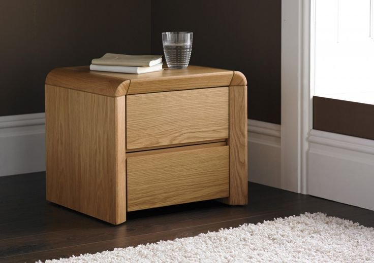 Arran Oak Finish 2 Drawer Bedside