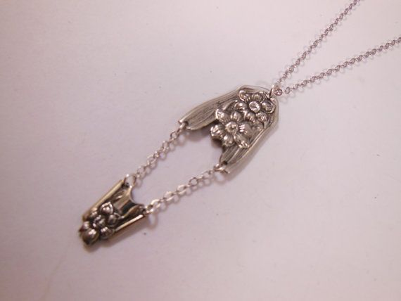 Jonquil  Antique Spoon Necklace by WoodsEdgeJewelry on Etsy
