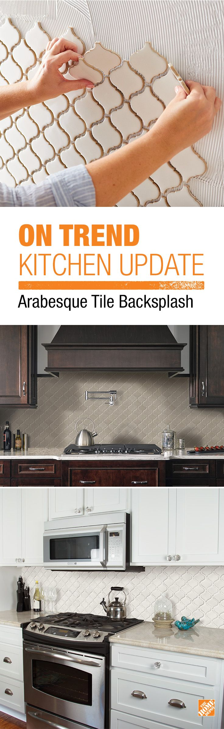 Stay Under Budget On Your DIY Kitchen Project With MS International Bianco  Arabesque Ceramic Mosiac Wall. Backsplash TileBacksplash IdeasTile ...