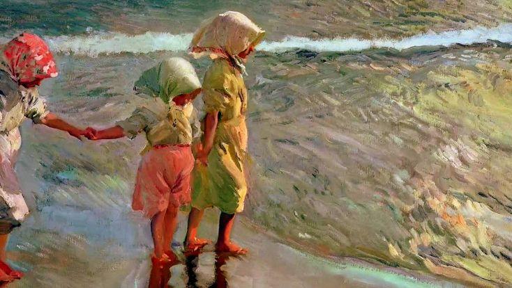 JOAQUIN SOROLLA 1/3 – Un pittore spagnolo, il cui stile era una variante dell'Impressionismo (le sue migliori opere, dei dipinti a cielo aperto, ritraggono la costa di sole di Valencia). Egli trasse la sua ispirazione dalla luce sulle acque di casa sua (dove le sue scene di spiaggia sono segnati da forti contrasti di luce ...