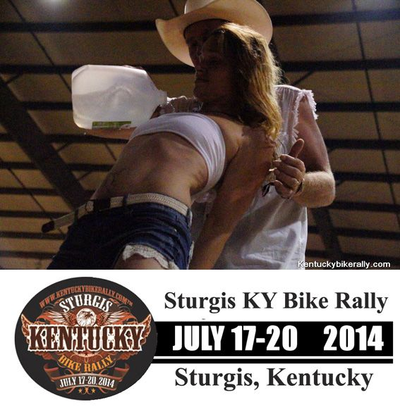 Wet t shirt contest  GOING on NOW 2014 Kentucky Bike Rally/Little Sturgis Rally---JULY 17 to 20  **VIDEO and Info on the Little Sturgis KY Rally- www.lightningcustoms.com/littlesturgisrally.html  #kentuckybikerally #littlesturgisrally #littlesturgisky #littlesturgiskyrally