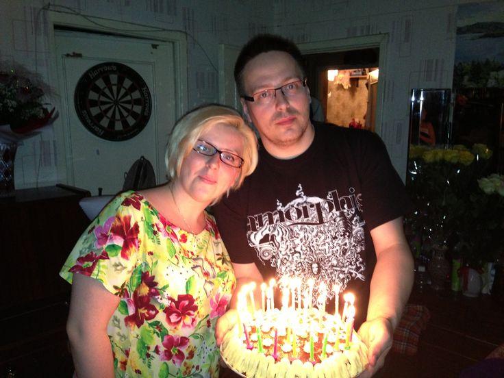 Сестра и брат и торт