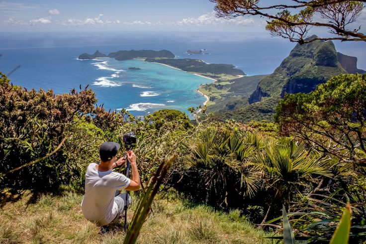 Film-maker, Andy Lloyd, on Mt Gower | Lord Howe Island
